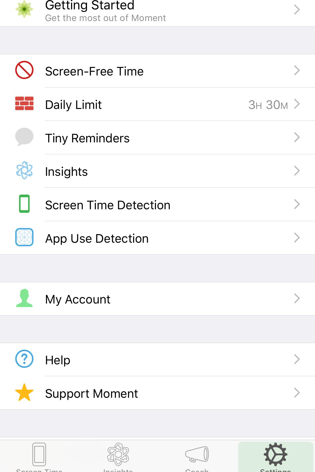 Moment App Settings.png