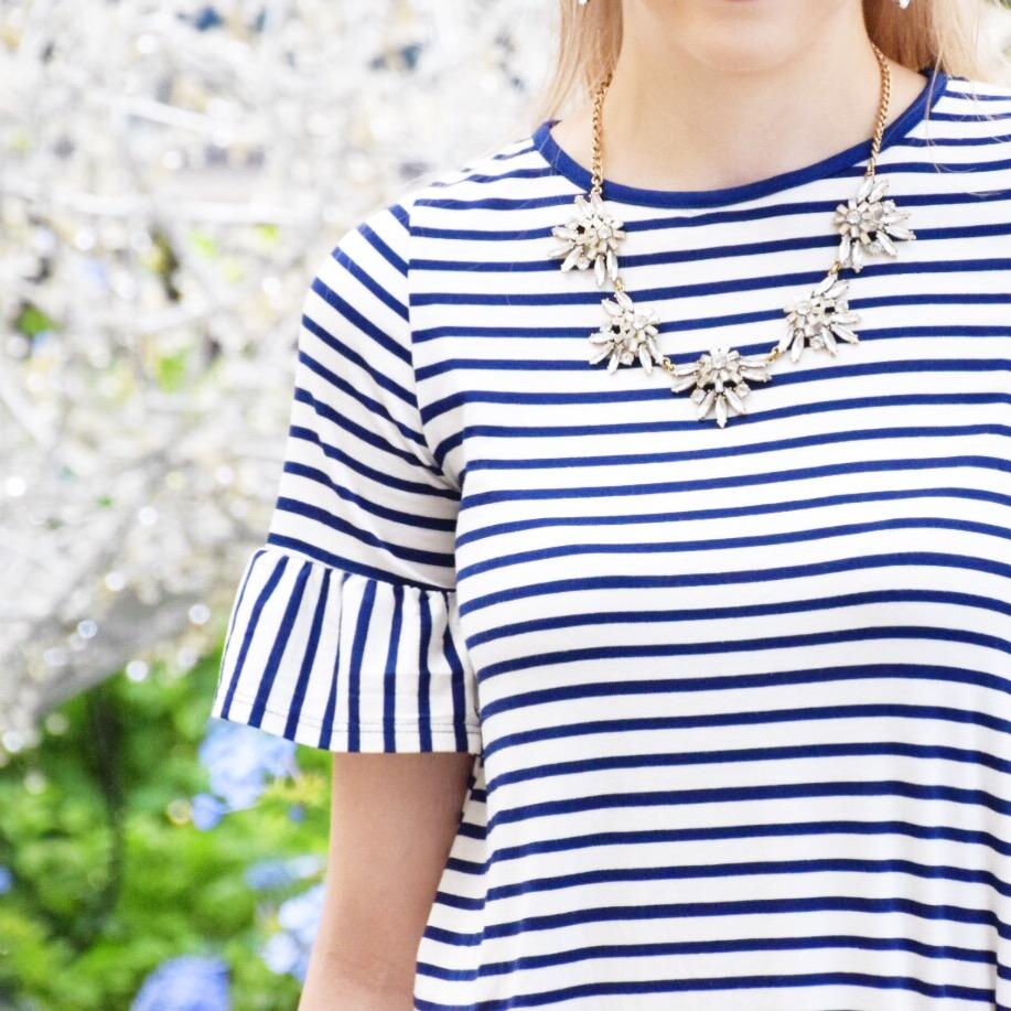 Houston Fashion Blogger - Wander Dust Blog - Navy Striped Shirt (4).JPG