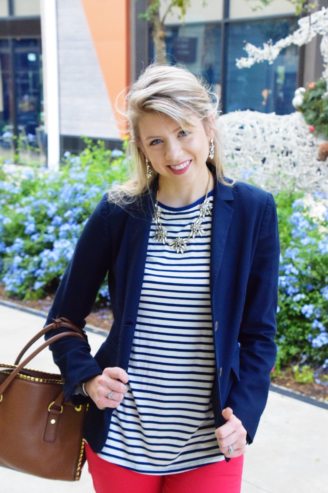 Houston Fashion Blogger - Wander Dust Blog - Navy Striped Shirt (8).JPG