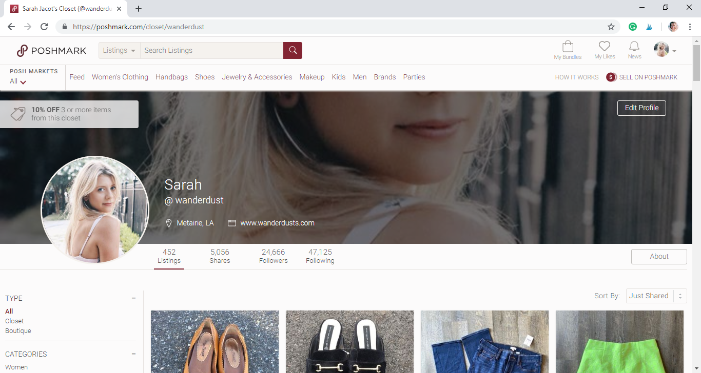 How to Make Money Using Poshmark - Lifestyle Blogger - Blogger Sarah J.png