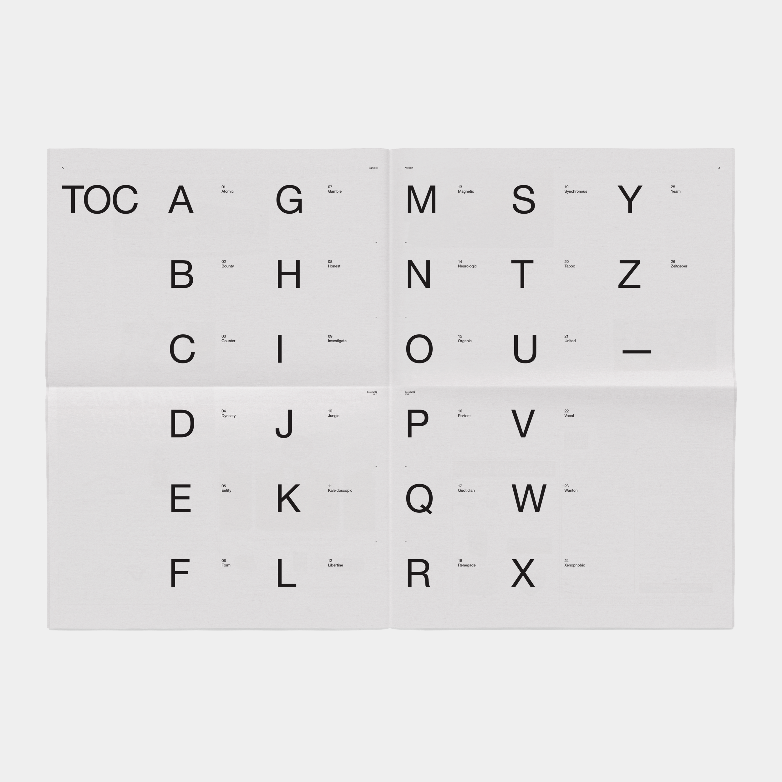 Alphabet Studies, Jim Schachterle