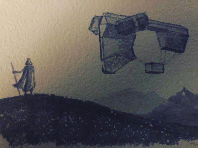 Space trapper? . . . #inktober #inktober2019 #art #prismacolor #rusty #cardstock #blackandwhite