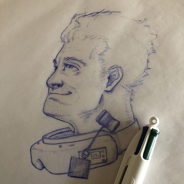 Dreaming of FPV. . . . #fedpv #dronelife #fpvlife #inktober #inktober2019 #bic #art #drawing