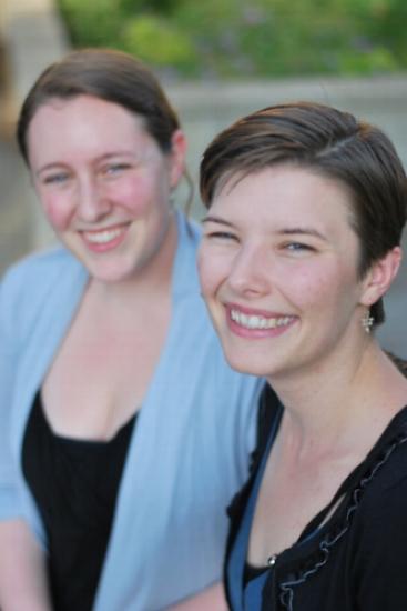 Marlee and Megan headshot Orange County birth doula
