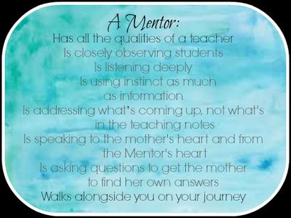 Role of a mentor Huntington Beach birth class