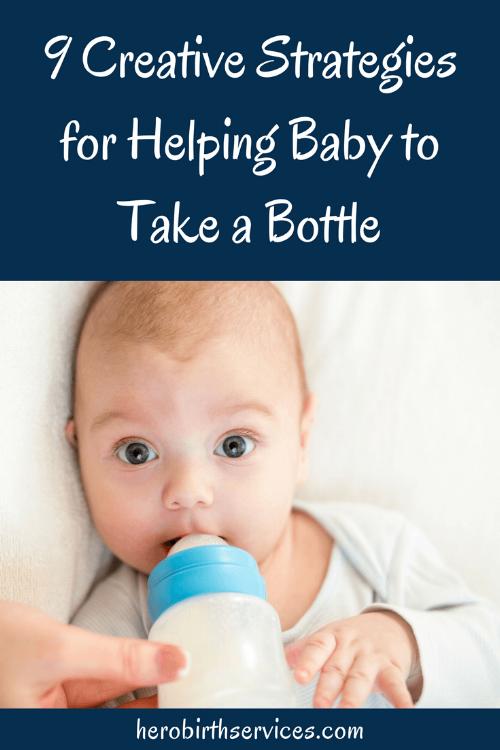 Help baby take a bottle postpartum doula Irvine