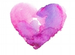Pink watercolor heart Mission Viejo experienced doula