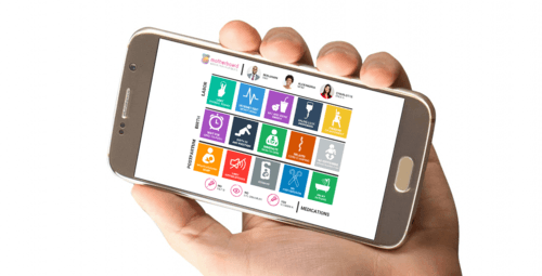 Mission Viejo doula Motherboard on smartphone