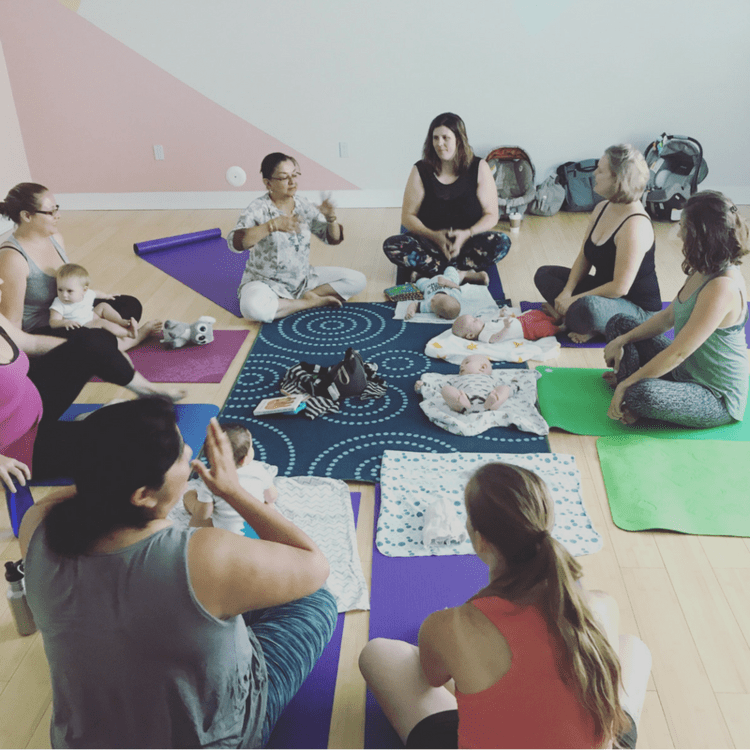Baby and Me class at Unfold Yoga