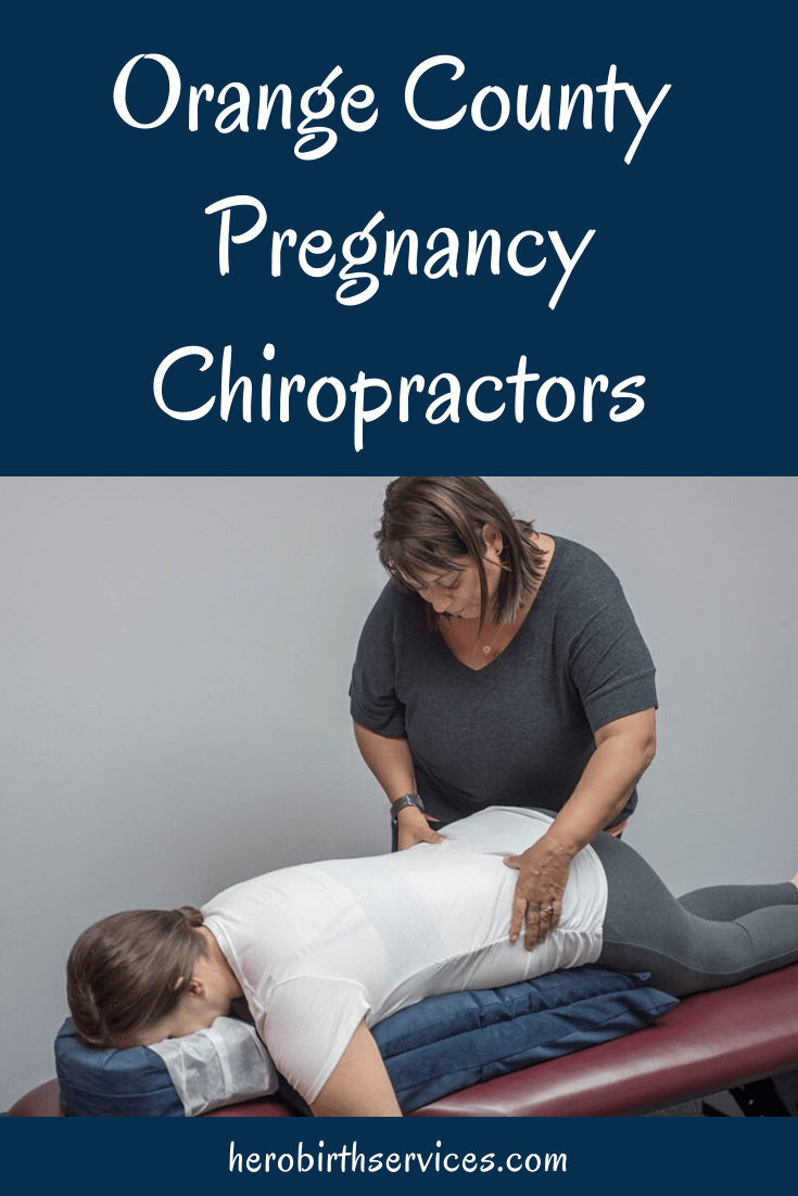 Photo of Brea chiropractor  Dr. Anastasia Lander  giving a pregnant client an adjustment