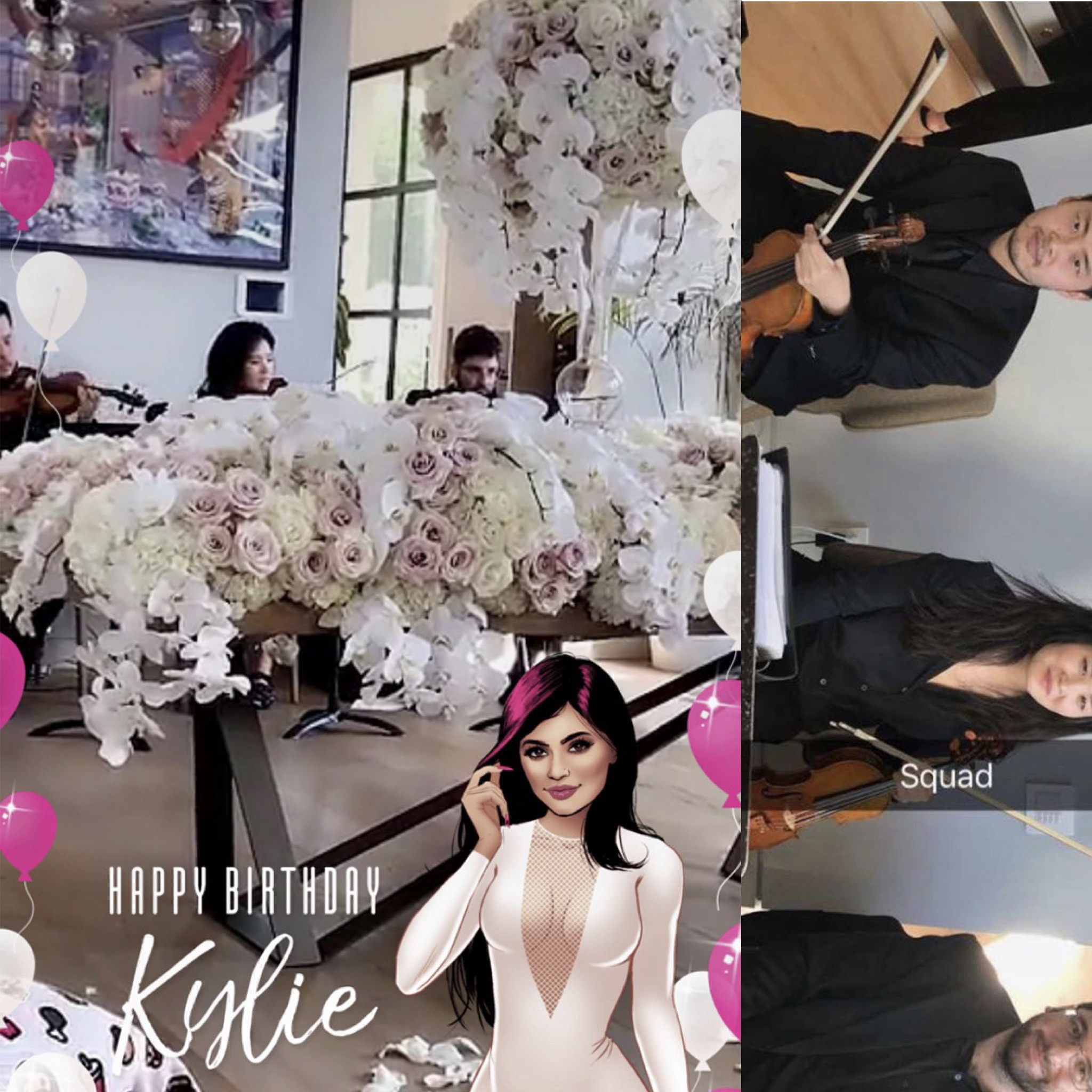 Surprise 20th Birthday for Kylie Jenner (Snapchat/Kylie Jenner)