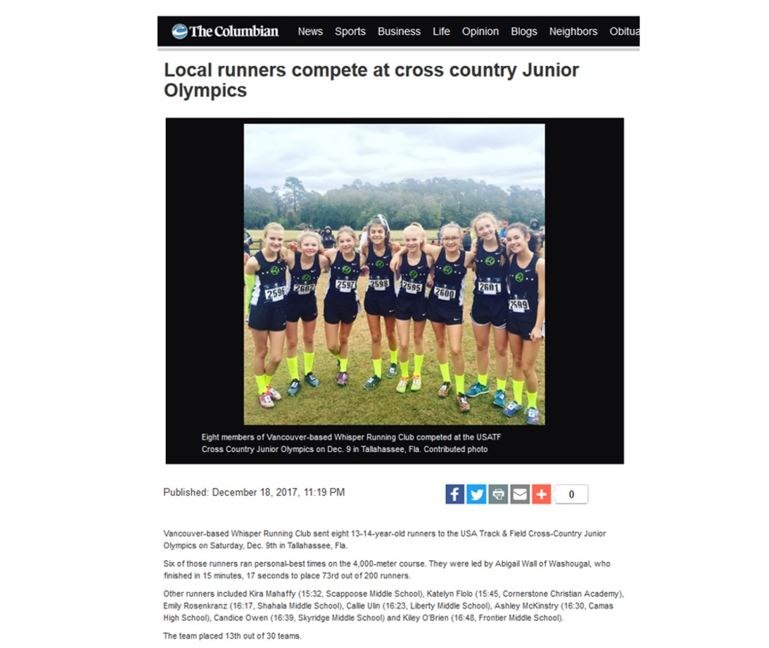 Click the photo above to view the online article published today by the Columbian newspaper of Vancouver, WA.