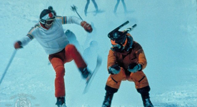 Hot Dog - The Movie (1984) - Chinese Downhill…Kendo putting a drop kick on a competitor!