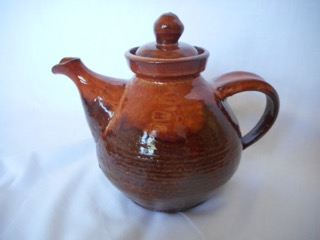 Teapot made in the late 1950's by Selma and Jimmie Clennell