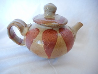 Teapot made about 2005 by their, nephew, Tony Clennell.