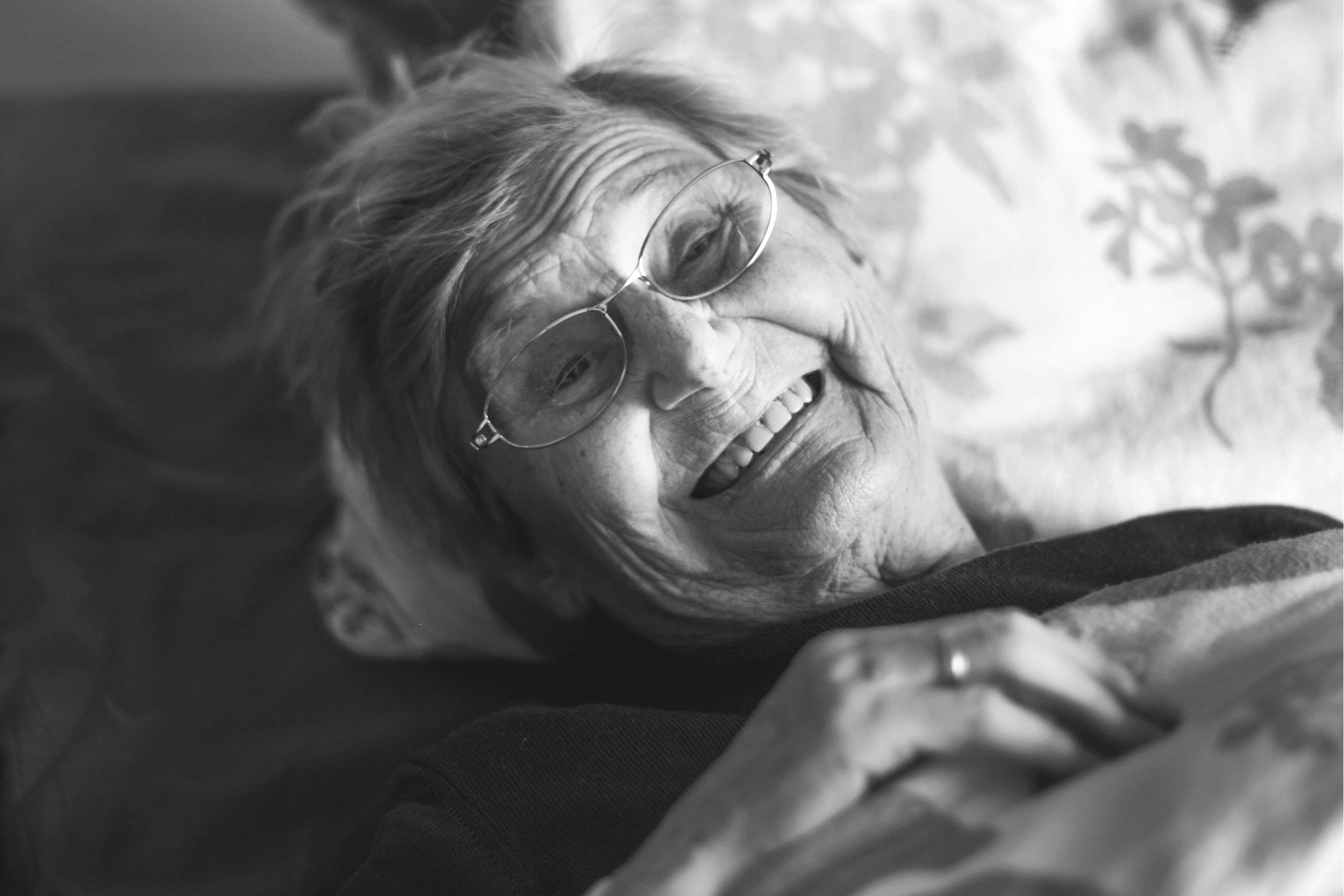 Photographer: Sissela Johansson  My grandmother - the last smile I captured before she passed
