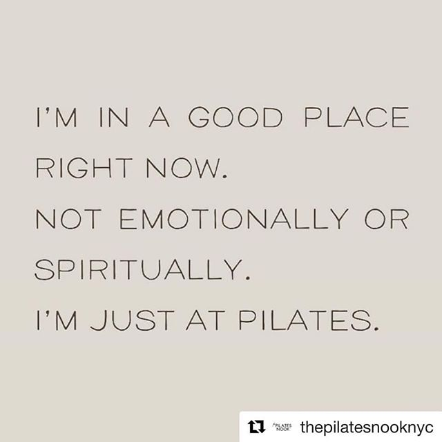 Truth! My journey to #mental #balance and #innerpeace starts with the physical body 😉 #pilates #fitnessmotivation #humpday