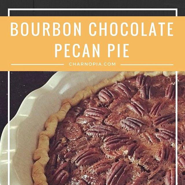 A Kentucky Derby Day fav of mine - Bourbon Chocolate Pecan Pie #kentuckyderby #pie #pecan