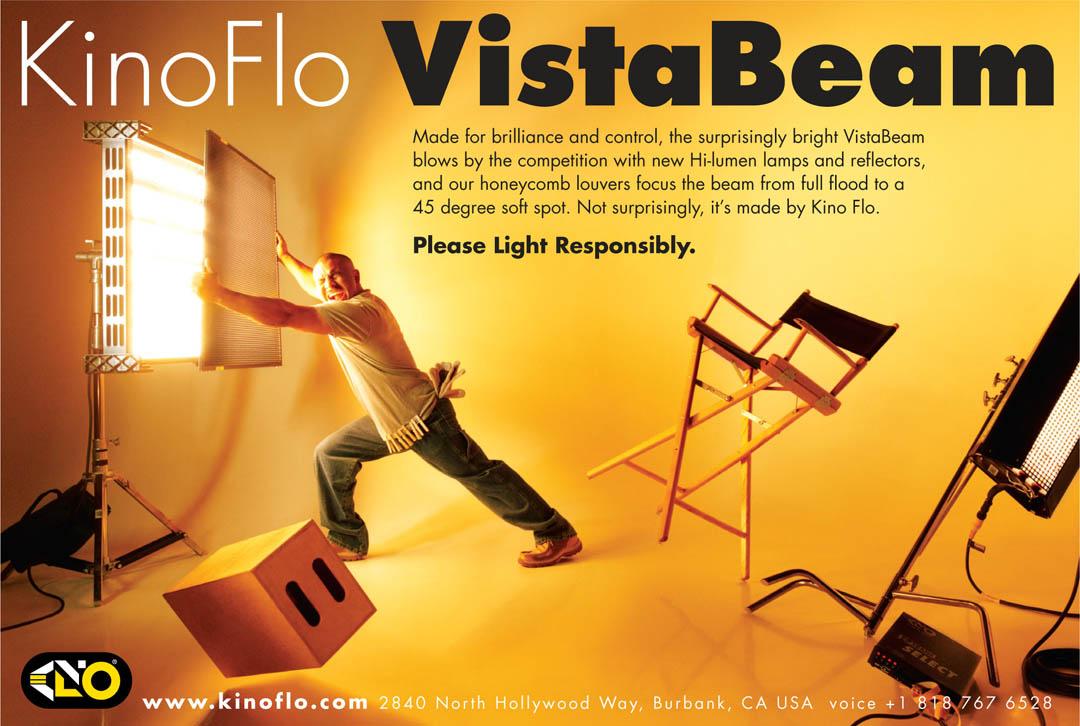 Kino-Flo Vista Beam Ad