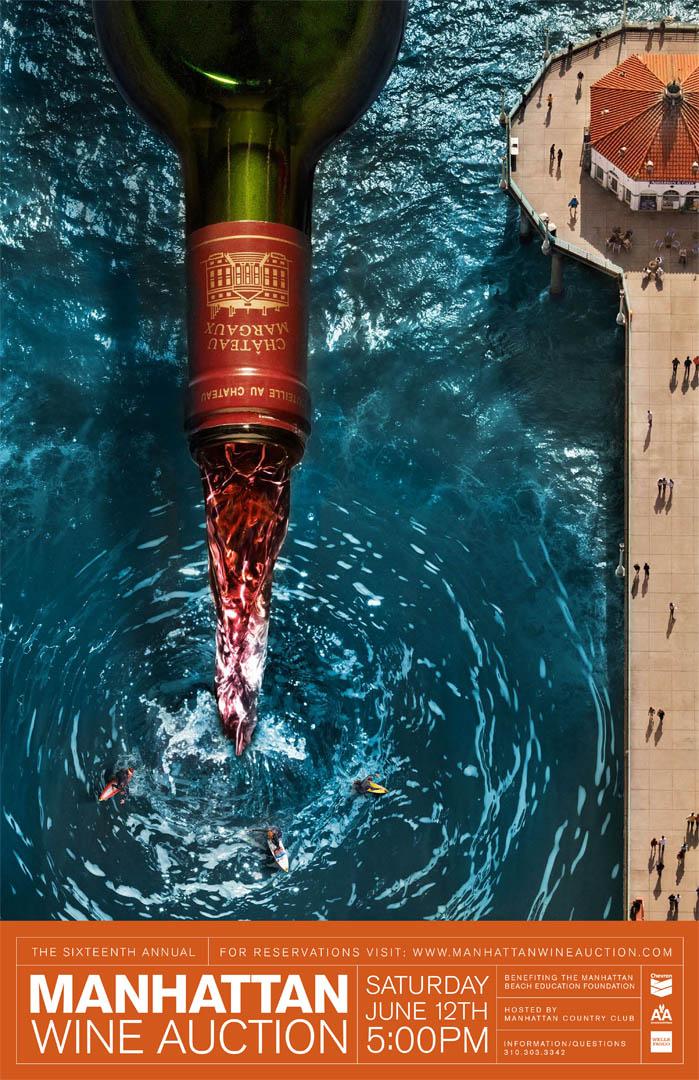 Manhattan Beach Wine Auction Poster