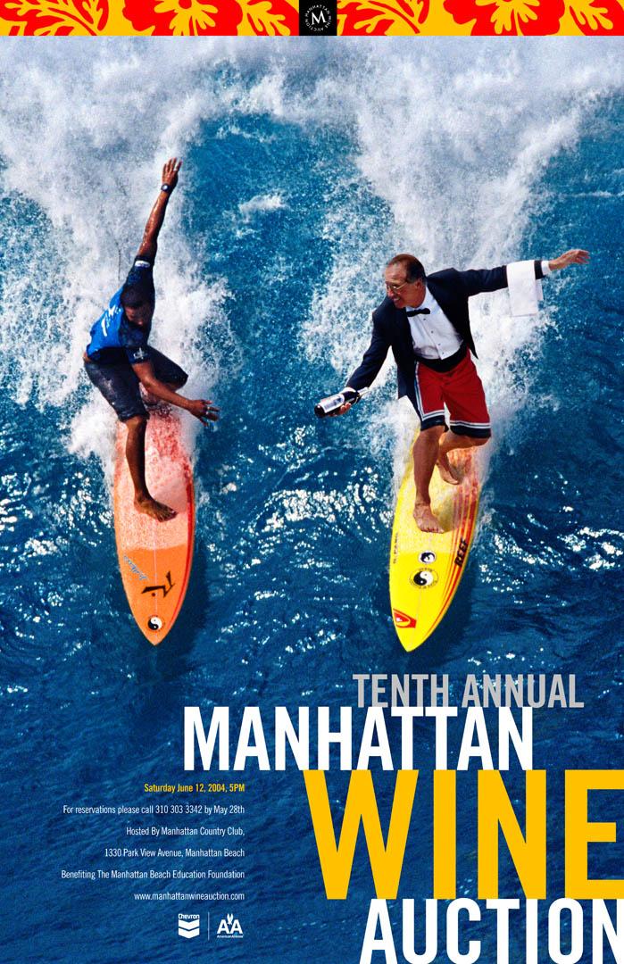 Manhattan Beach Wine Auction Poster 2004