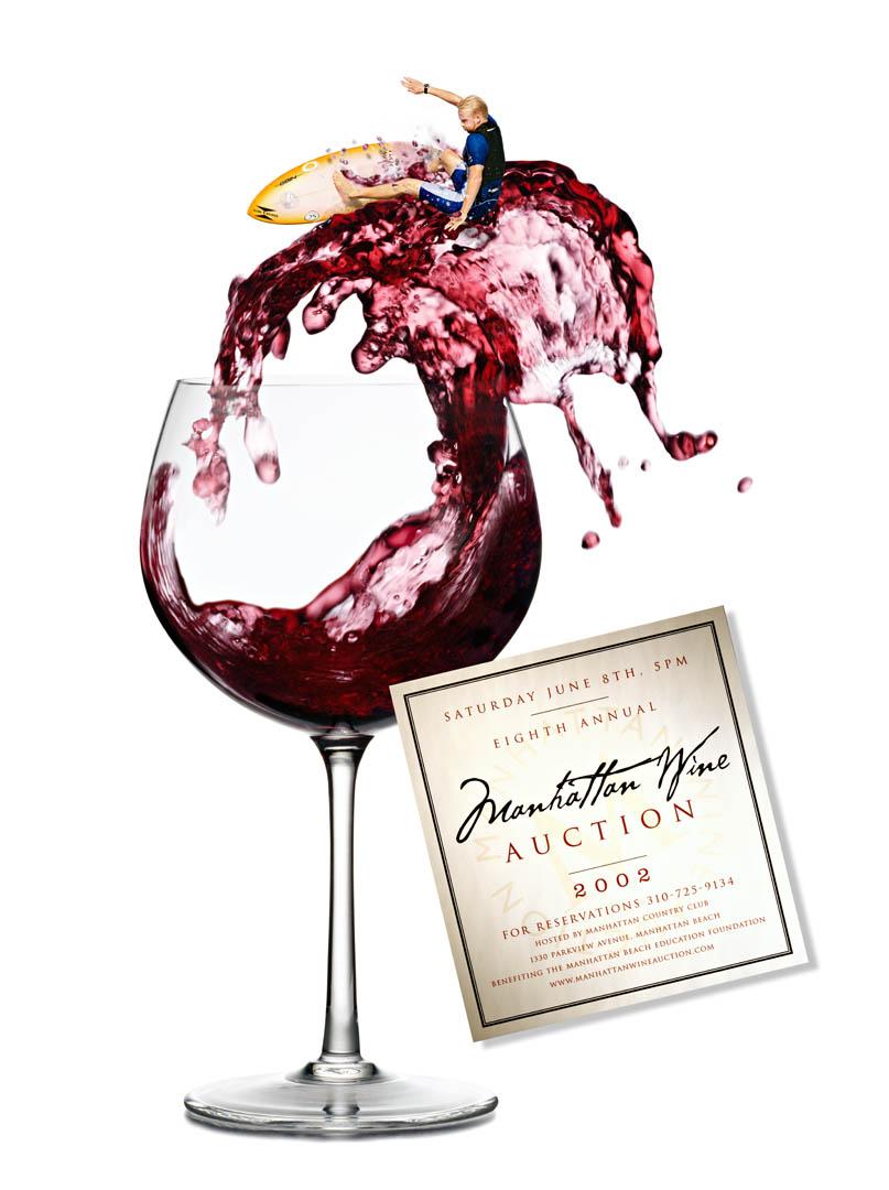 Manhattan Beach Wine Auction Poster 2002
