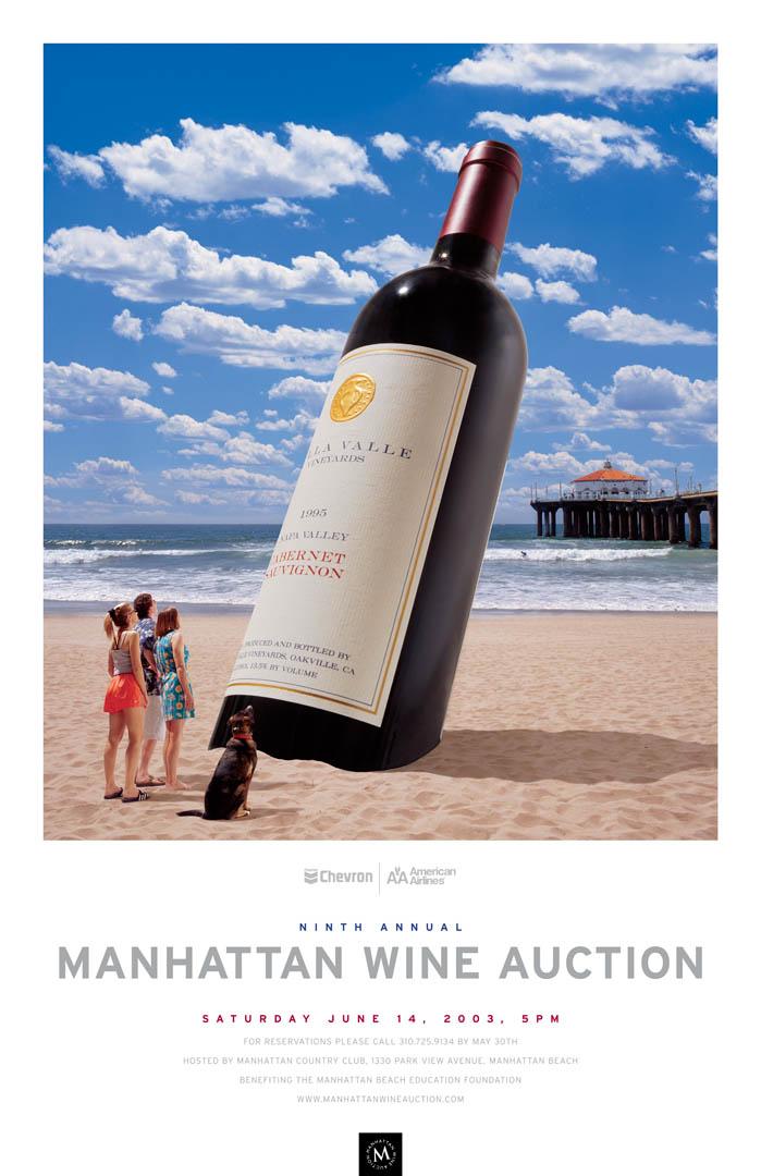 Manhattan Beach Wine Auction Poster 2003