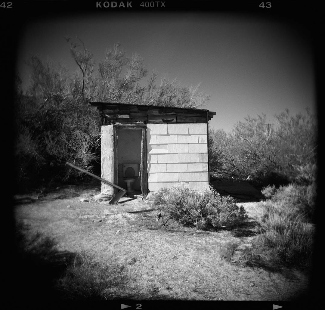 Outhouse, HWY 395, Olancha, Ca.