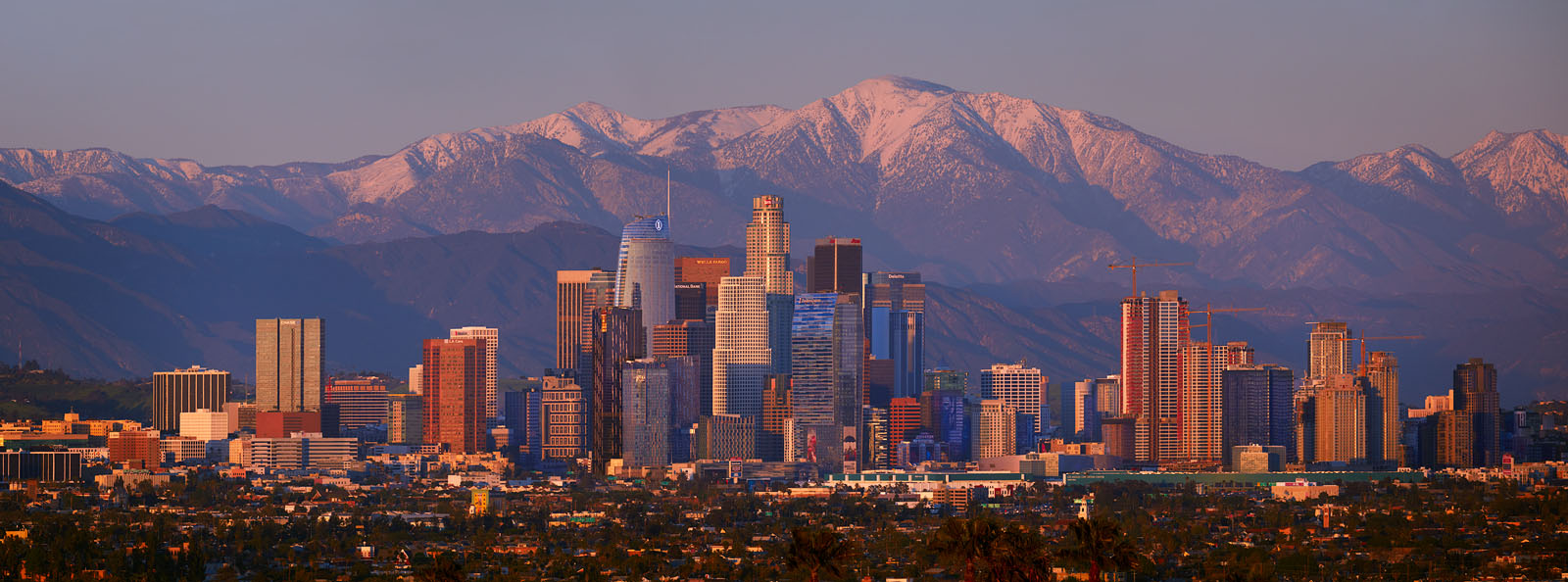 Downtown Los Angeles with Mt. Baldy