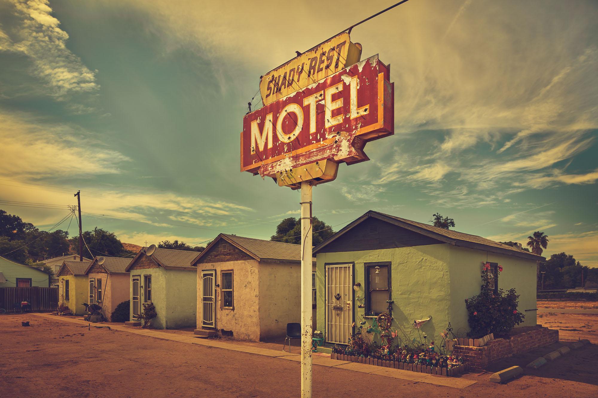 Shady Rest Motel, San Miguel, Ca.