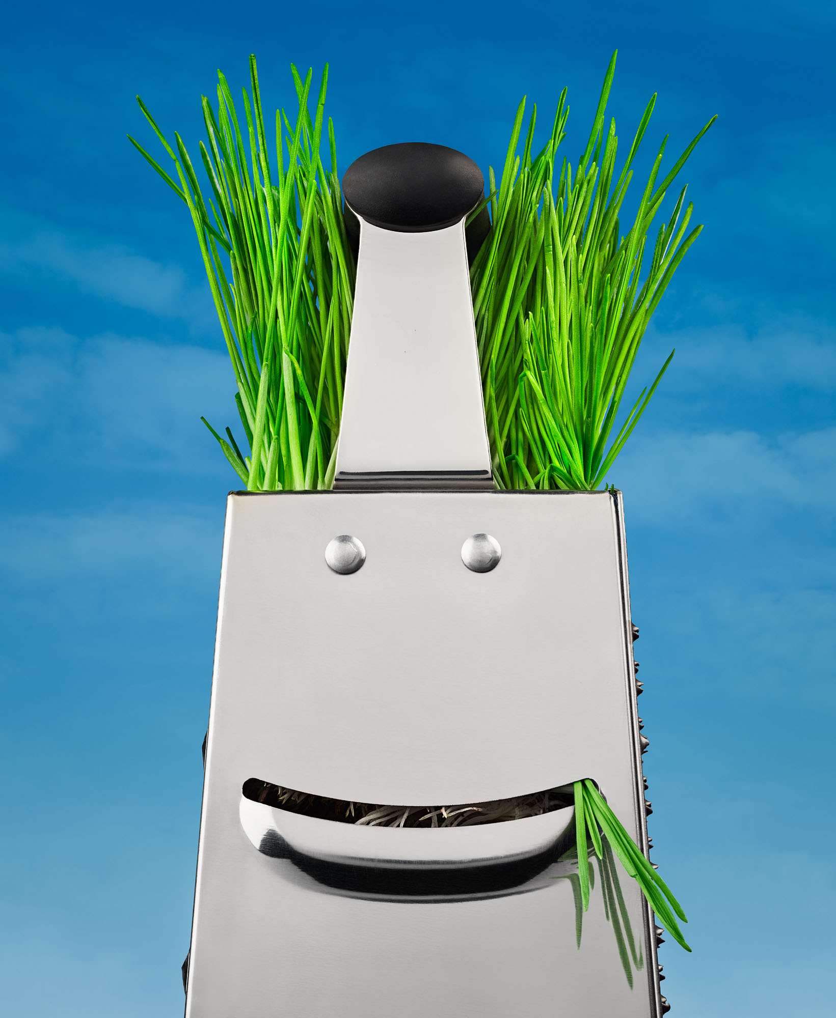 Grater with Wheatgrass