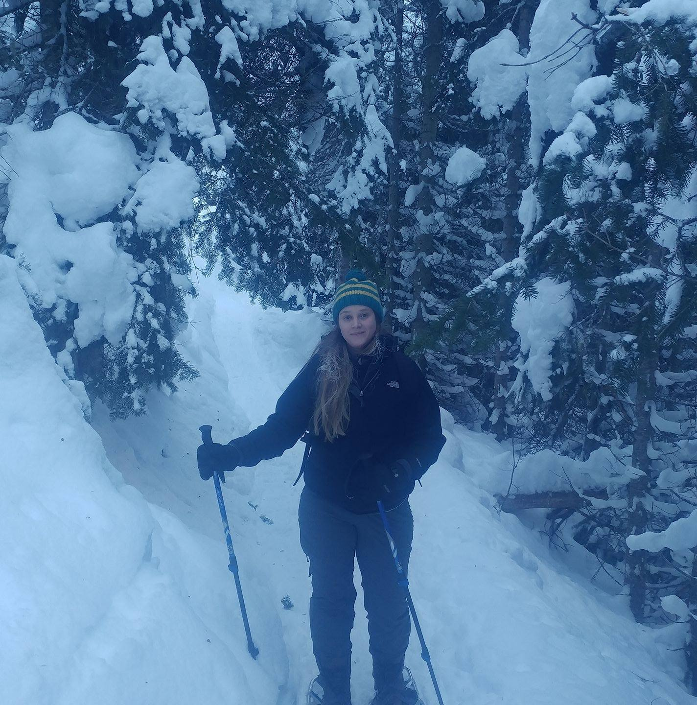 Snowshoeing in -20 at Manning Provincial Park. Jan 2017.