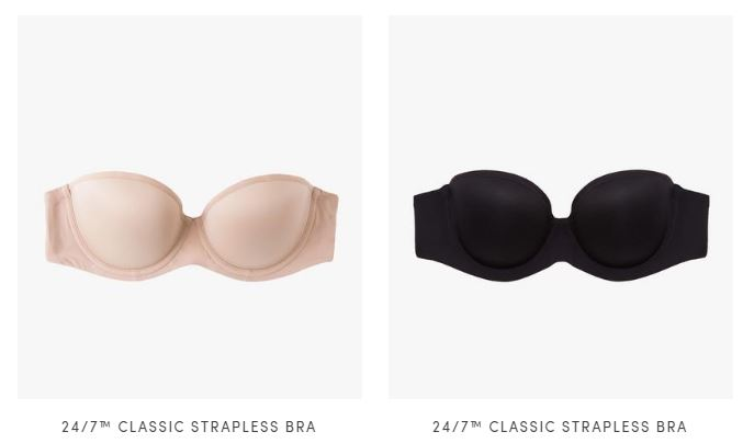 Shop the thirdlove 24/7 strapless bras   here  ! the run up to a size 40 F!