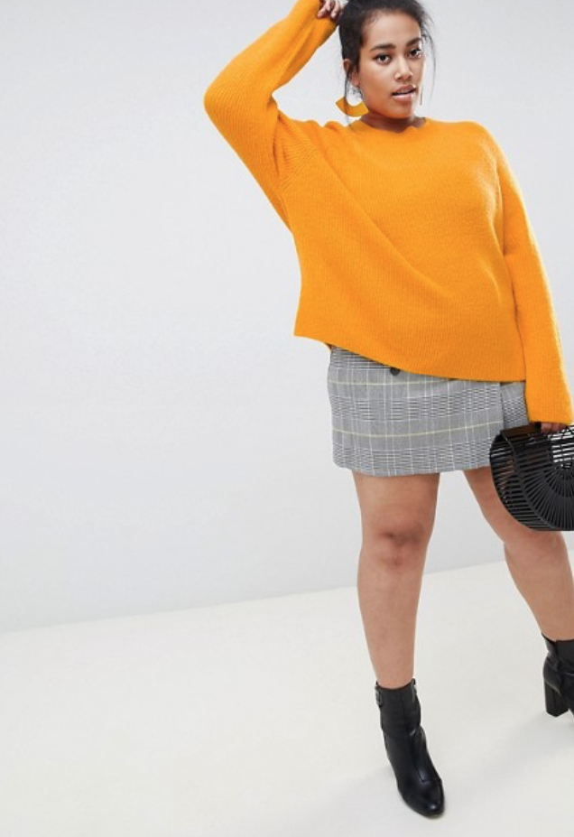 ASOS DESIGN Curve fluffy jumper in rib.png
