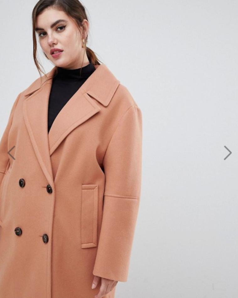 ASOS DESIGN Curve classic coat.png