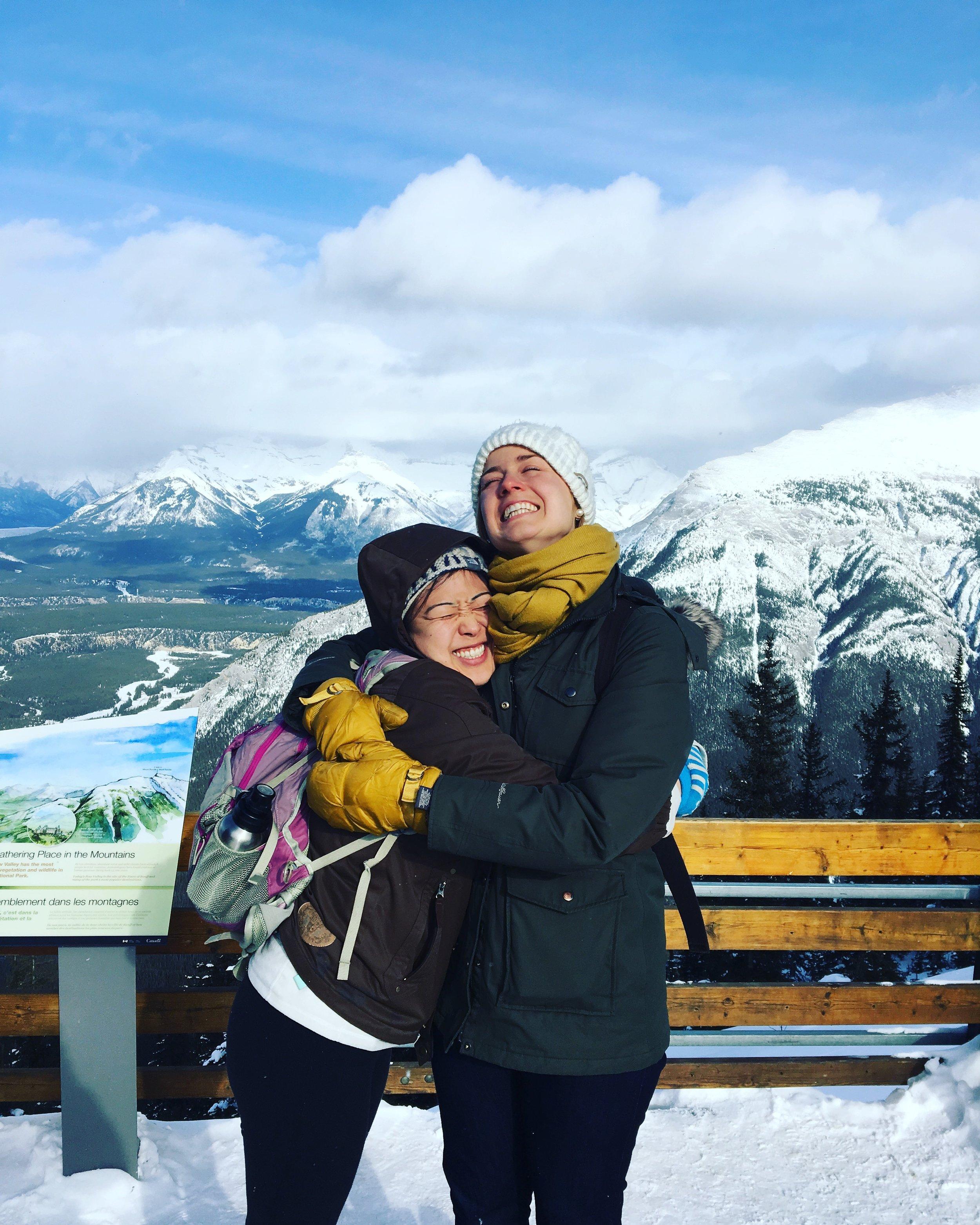 atop Sulphur Mountain!