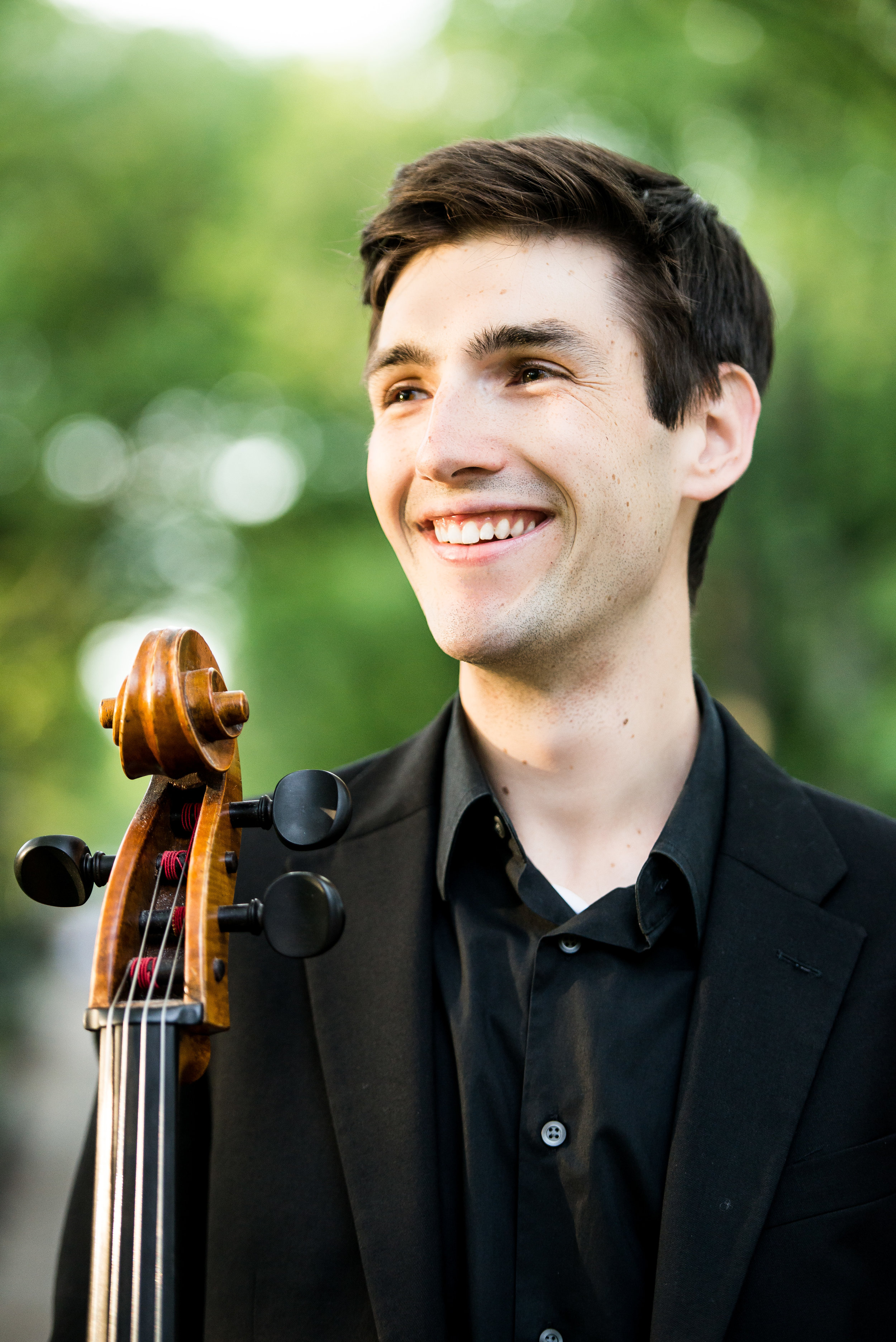 """Praised as """"an artist with an already expanding reputation and great future"""" ( The Well-Tempered Ear);  cellist Andrew Briggs is a world traveler. Recent performances include recitals in Bergen, Netherlands and Narbonne, France; collaborations with the principal cellist of the Royal Concertgebouw Orchestra (Amsterdam, NL); performances in Paul Hall, NYC; with Axiom Contemporary Ensemble in Alice Tully Hall, NYC; and concerto appearances in Wisconsin and Colorado. Last season, Andrew has performed pieces by Dvorak with the Middleton Community Orchestra, chamber music performances as member of the Elmwood String Trio, and in the cello sections of the Madison Symphony, the Colorado Symphony, and the Colorado Music Festival. Completing his Masters Degree at The Juilliard School, he recently graduated from the University of Wisconsin as a Doctoral student of Uri Vardi. His doctoral project, """"Piatti and the Body: An Integrative Approach to Learning the 12 Caprices, Op. 25,"""" can be found on Youtube.com."""