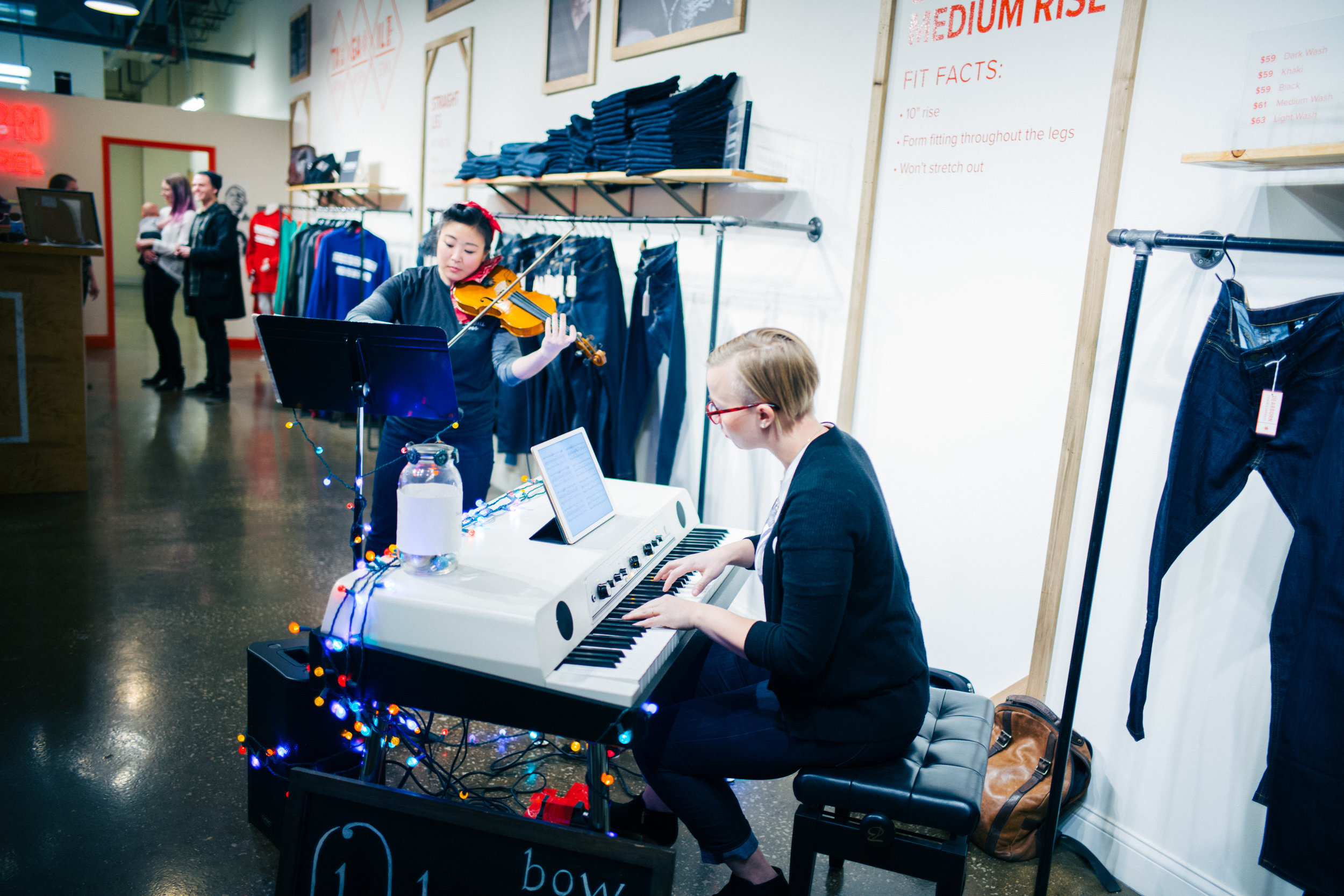 Holidayz at Dearborn Denim. Also featuring Rhine Hall Distillery and Metric Coffee.