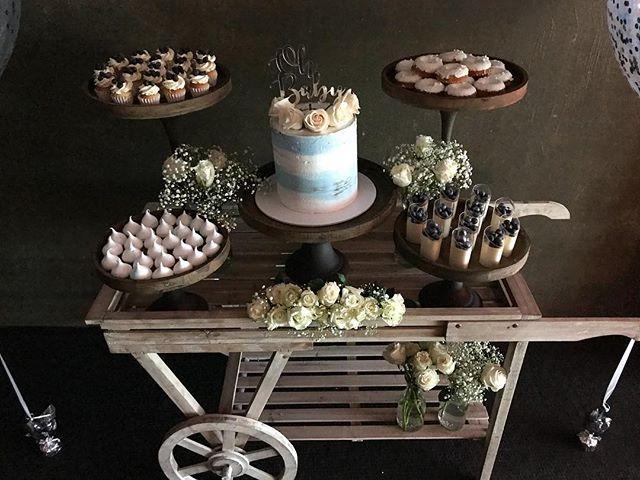 KRISTINA'S BABY SHOWER  #kristinasbabyshower #babyshower #baby #newborn #itsaboy #itsababyboy #thelastpiece #lunch #saturday #styling #rustic #2piece #blue #white #babybreath #cart #desserts #cake #celebration #melbourne #melbournebaby #events #styling #styledbyvalentina
