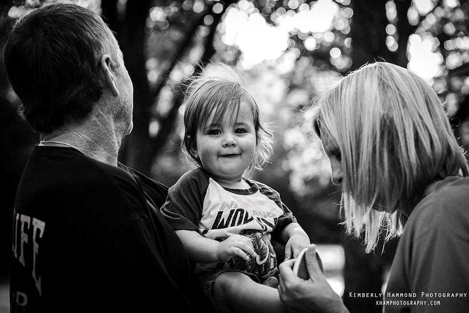 Little boy and grandparents camping in Grand Prairie, TX