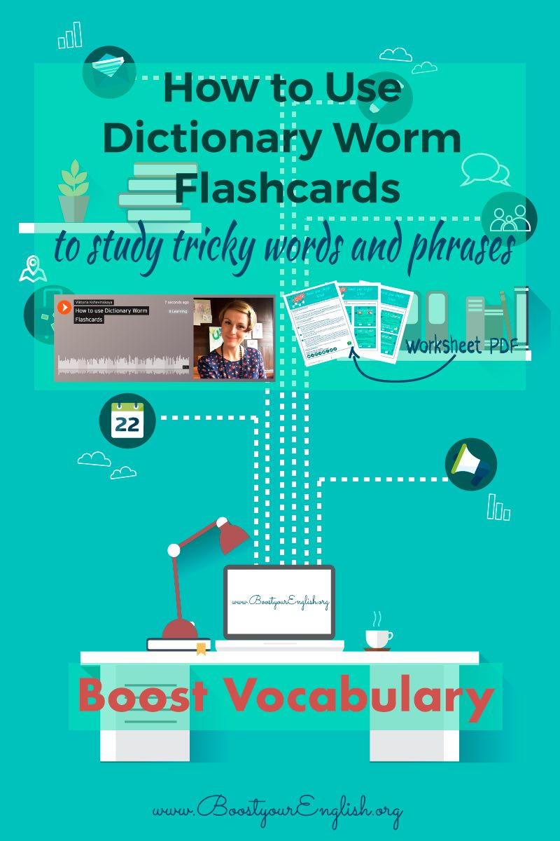 Episode 6: Dictionary Worm Flashcards — Boost your English