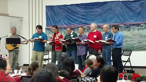 Happy Asian Men Singing
