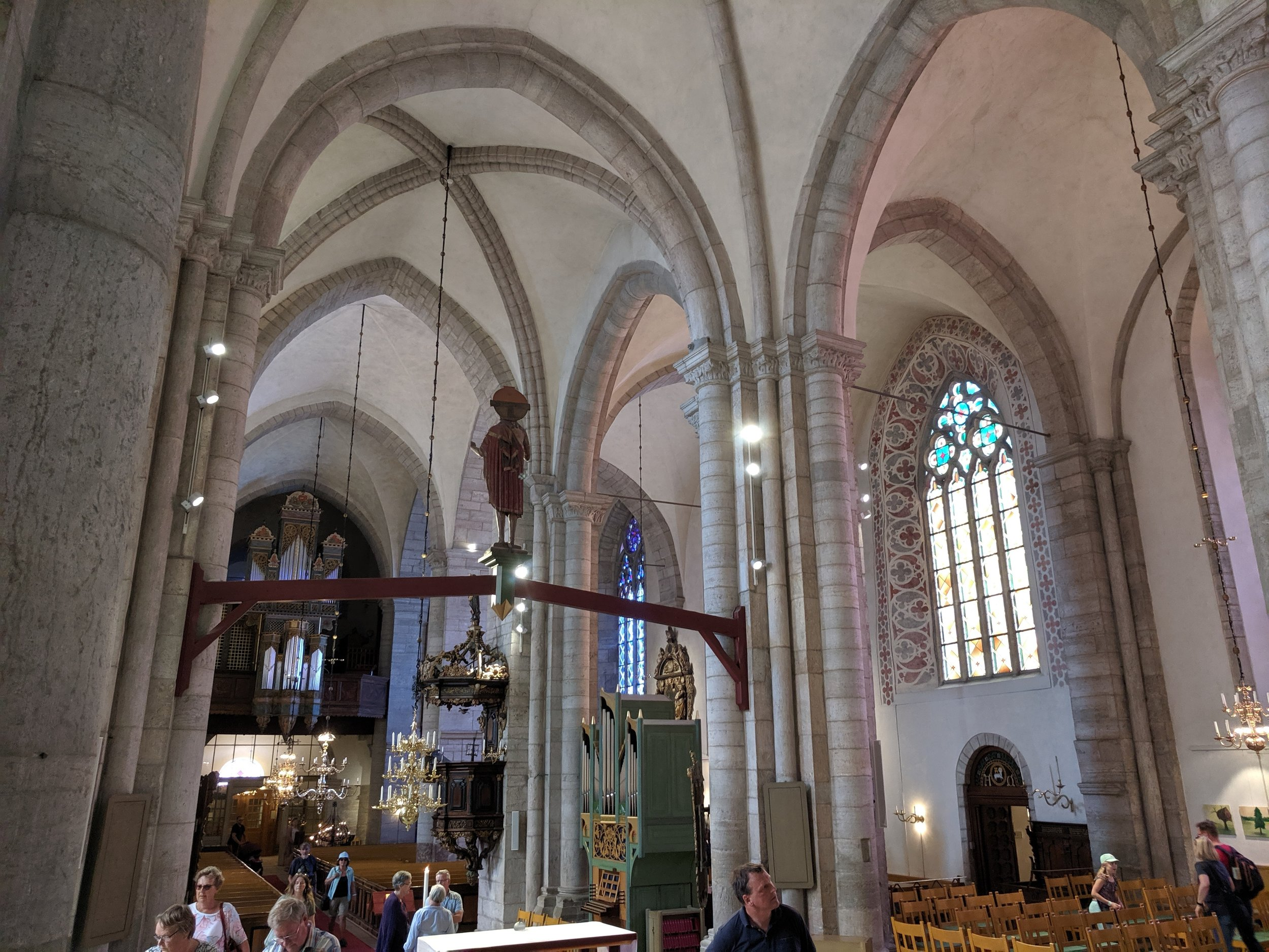 Renovated Swedish Church in VIsby - a tourist attraction but spiritually dead