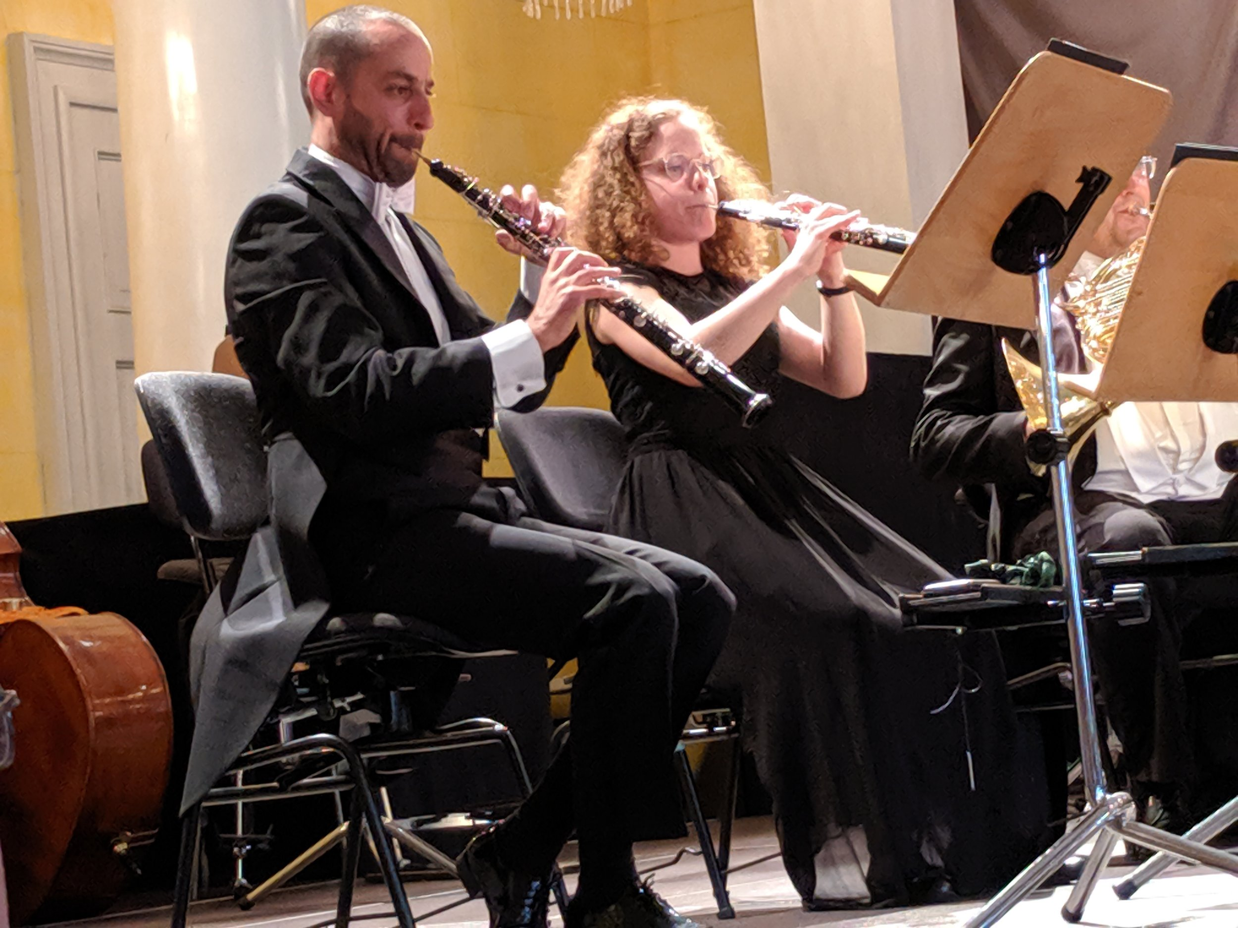 Oboes and, far right, French Horn playing Dvorak at a performance by the Regensburg Symphony.