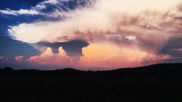 Watching storms to the east is one of the better things. Snapchat potato quality but REALLY TAKE A LOOK. vast n beautiful and powerful n scary and lovely.