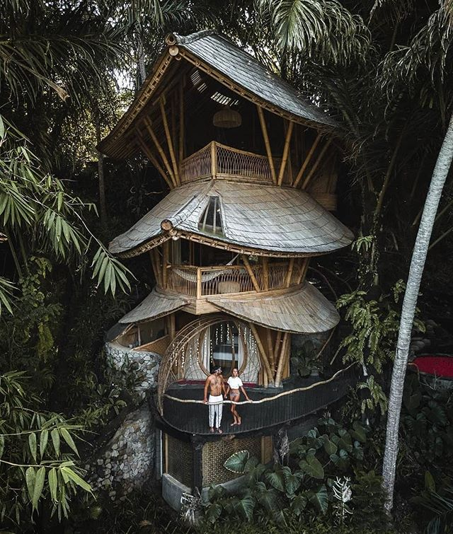 In the bamboo forests of 📍Bali, Indonesia🎍@aurahousebali (📷 @thelosttwo)