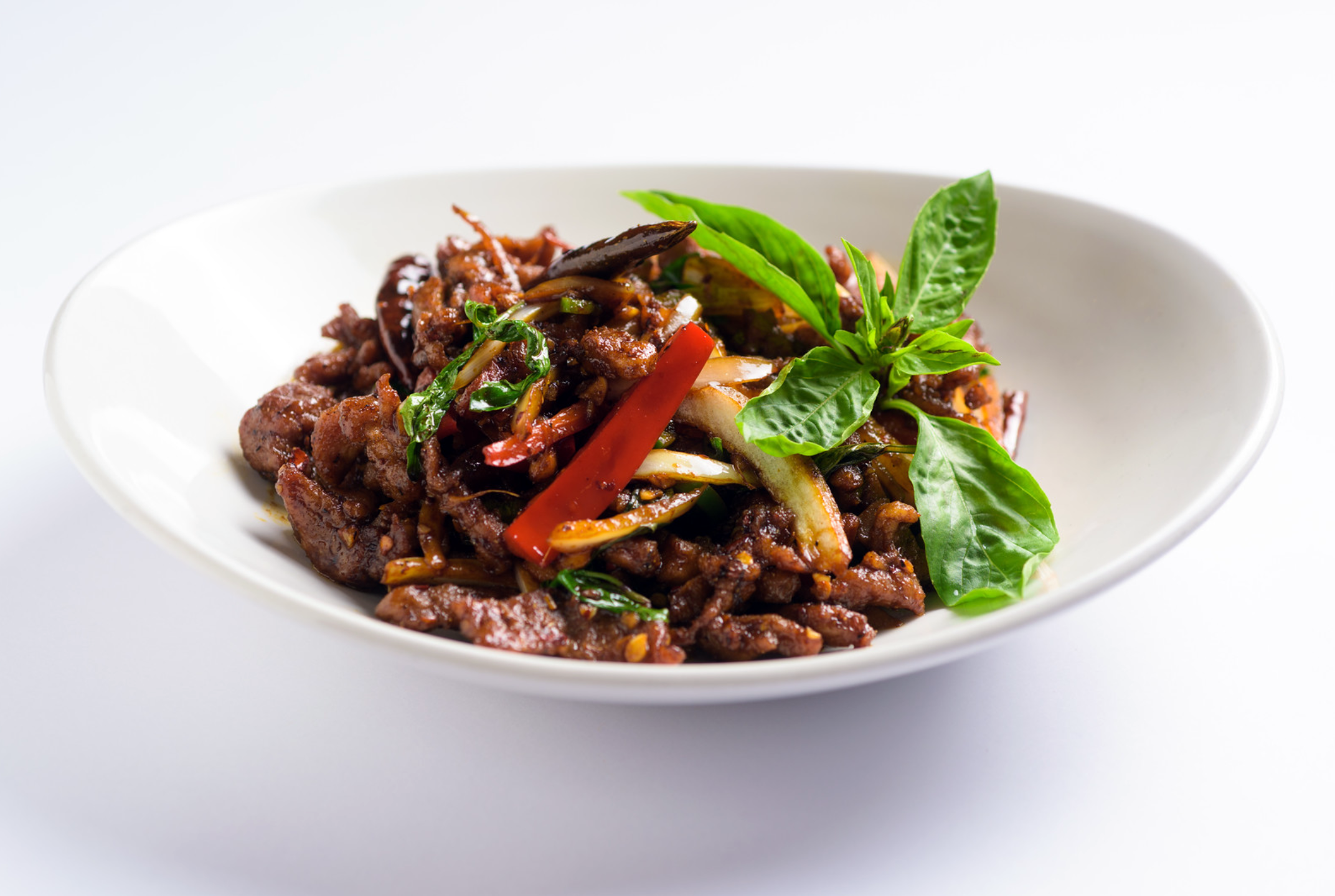 Rangoon Ruby Spicy Basil Chili Beef