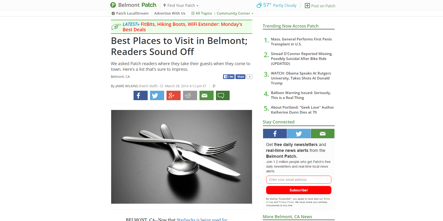 Best Places to Visit in Belmont; Readers Sound Off