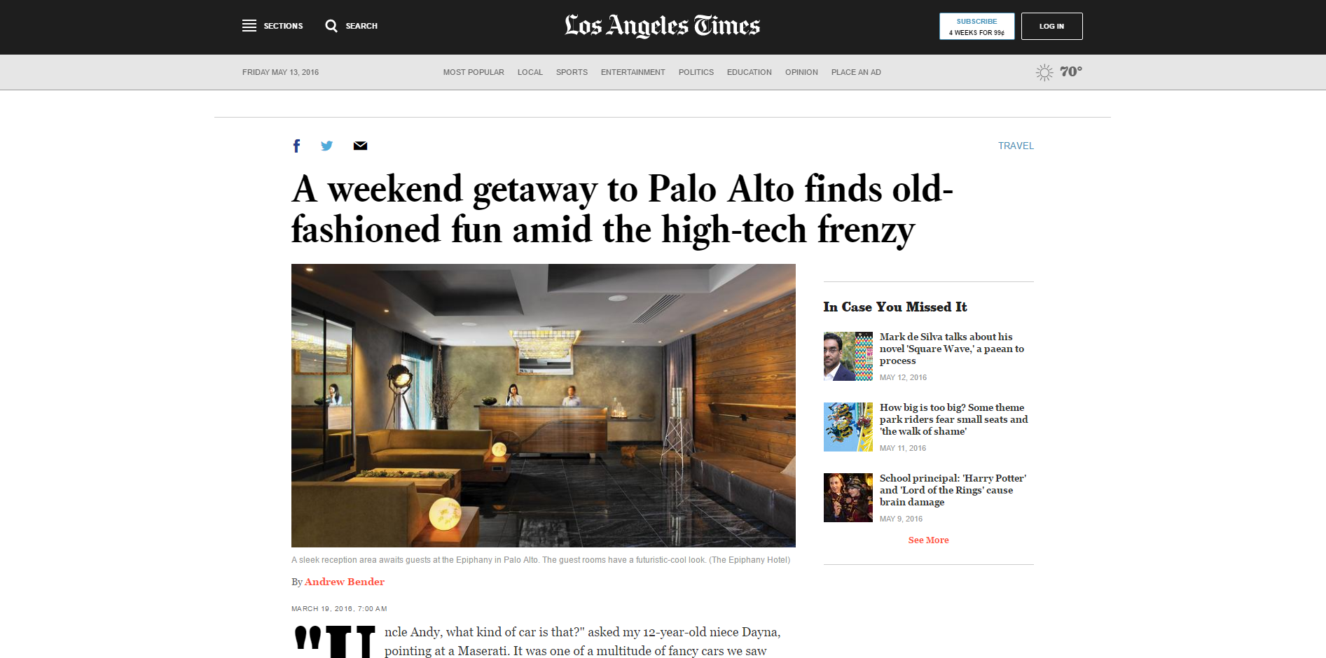 A weekend getaway to Palo Alto finds old-fashioned fun amid the high-tech frenzy