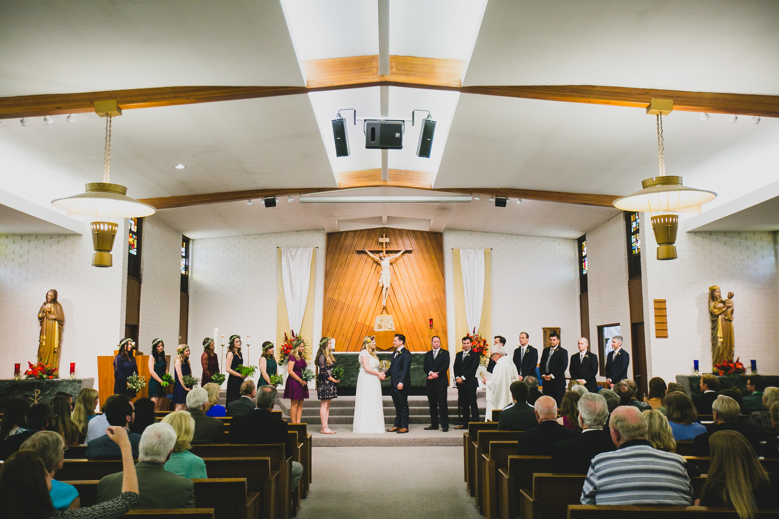 Our wedding ceremony was held at  St. Julian's Catholic Church , the local church Dan grew up at.